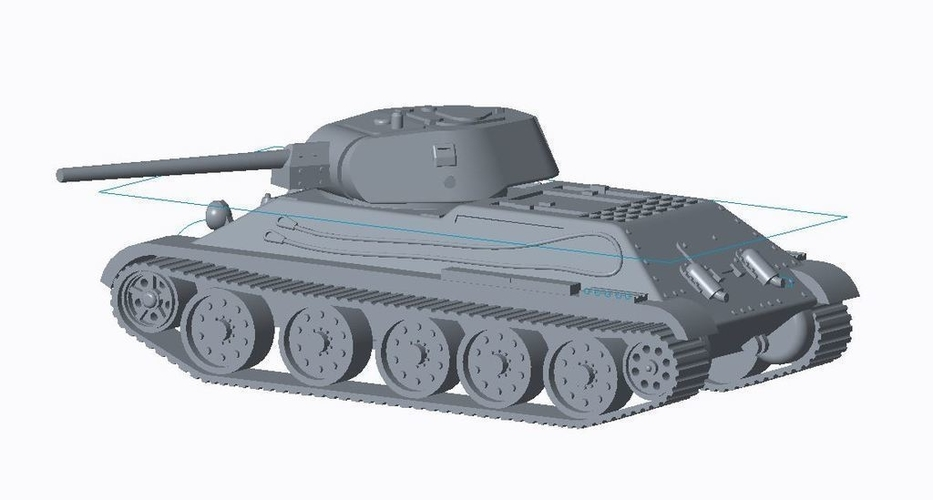 T-34/76 Tank Pack (Revised) 3D Print 158329