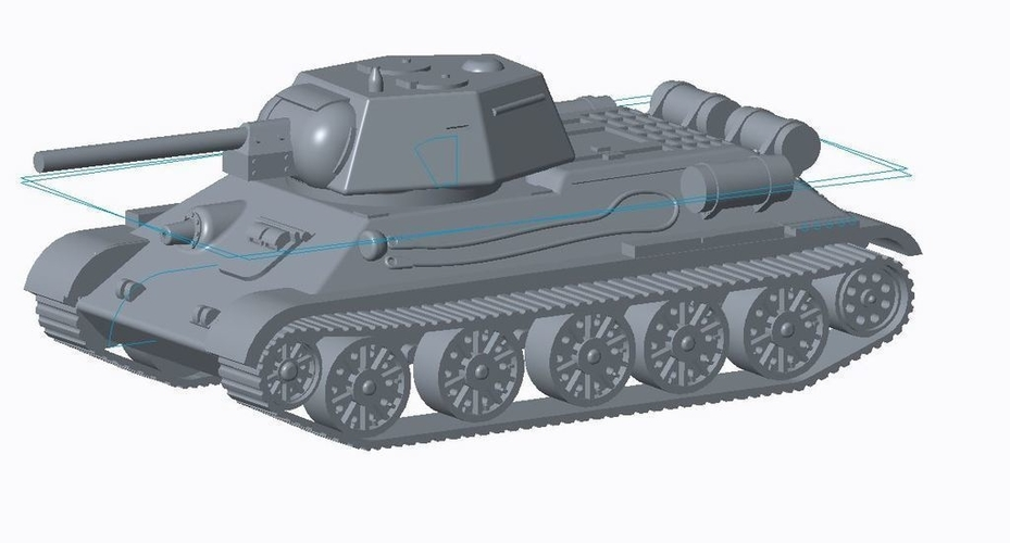 T-34/76 Tank Pack (Revised) 3D Print 158333