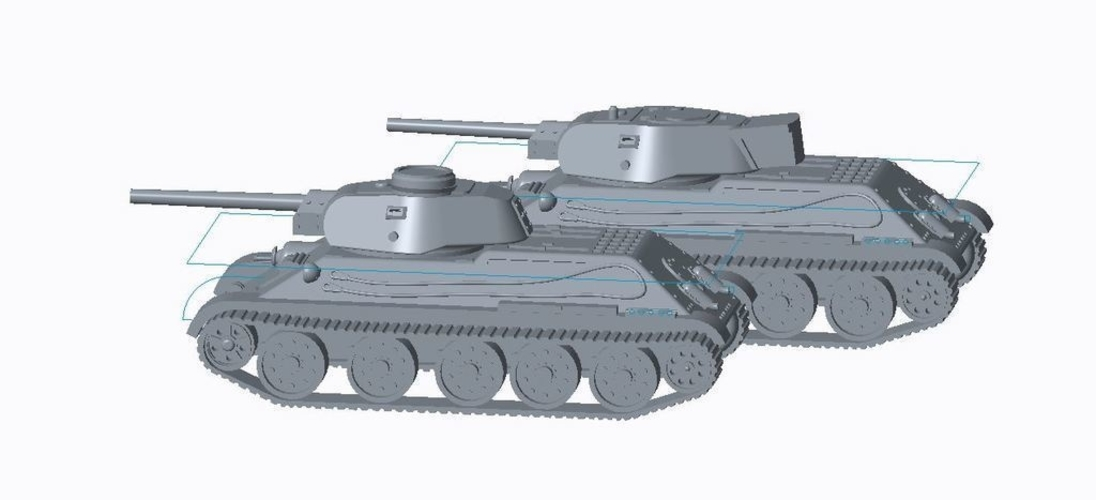T-34/76 Tank Pack (Revised) 3D Print 158335