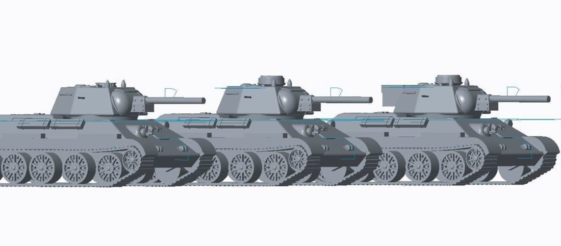 T-34/76 Tank Pack (Revised) 3D Print 158336