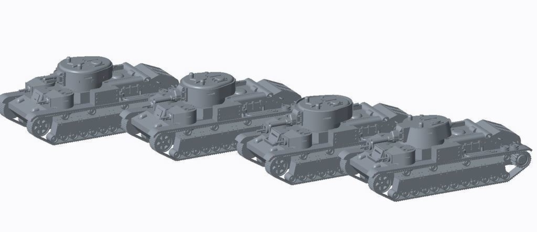 Soviet Multi-Turret Tank (REVISED)Pack 3D Print 158342
