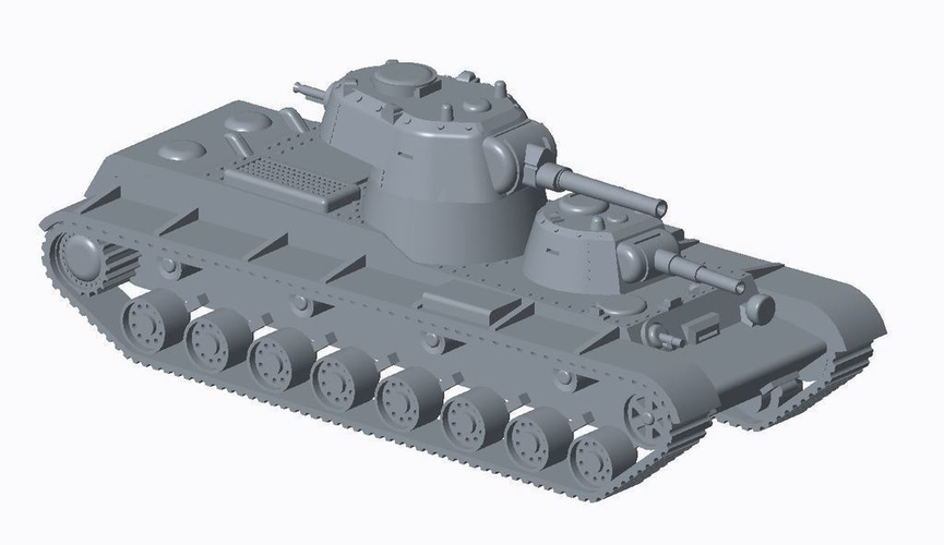 Soviet Multi-Turret Tank (REVISED)Pack 3D Print 158343