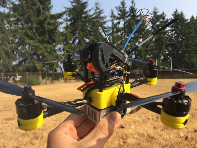 3D Printed Birdbone Plus FPV Quadcopter Frame by Birdbone