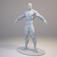 Small Bodybuilder Free 3D Printing 158393