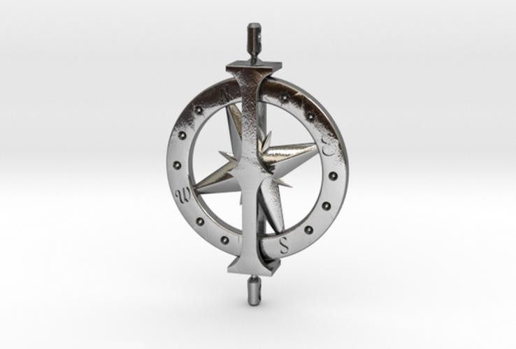 Charting Her Course - Spinning Pendant 3D Print 15844