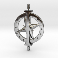 Small Charting Her Course - Spinning Pendant 3D Printing 15844