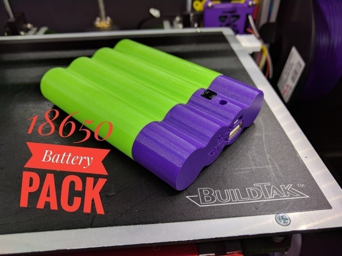 18650 Battery Pack 3D Print 158497