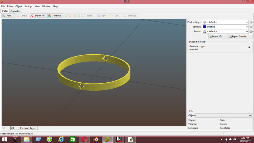 mapel leaf thumb ring 3D Print 158531