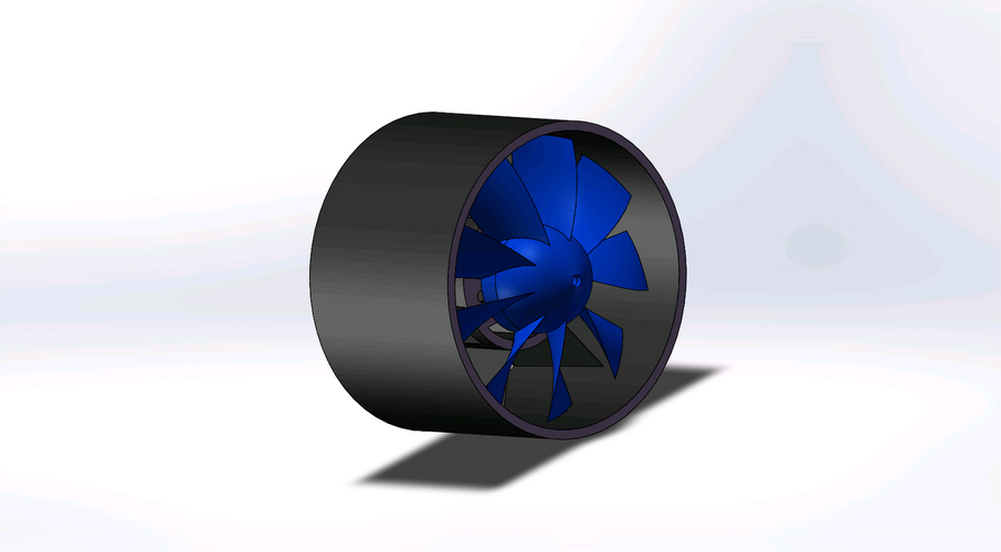 EDF duct fan for 20mm diameter DC motor 3D Print 158544