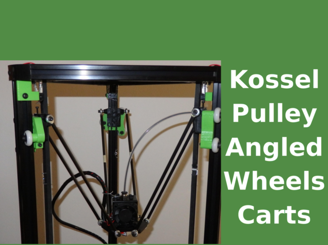 Kossel - angled wheels carts upgrade 2020 3D Print 158634