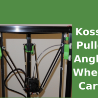 Small Kossel - angled wheels carts upgrade 2020 3D Printing 158634