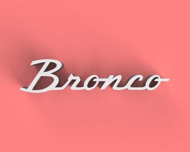 Bronco Classic Badge 3D Print 158693