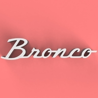 Small Bronco Classic Badge 3D Printing 158693