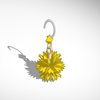 Small Floral Ear Trinket 3D Printing 15873