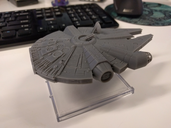 Millenium Falcon with hole for mounting peg/X-Wing: TMG stand 3D Print 158859