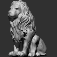 Small Lion Statue 3D Printing 158865