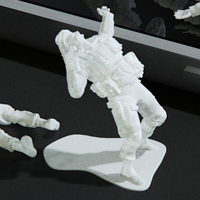 Small Modern Soldier getting shot pose (esc: 1/24) 3D Printing 158885