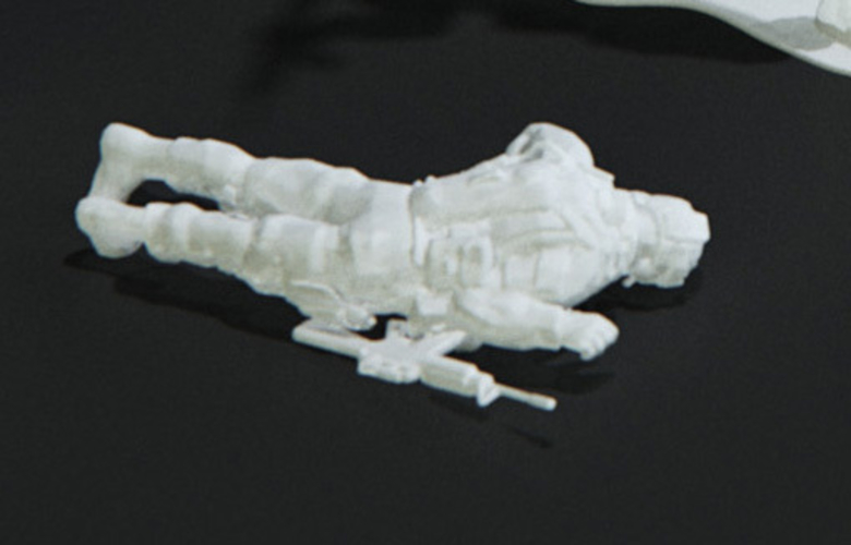 Modern Soldier lay on front (esc: 1/24) 3D Print 158890