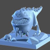 Small Monster eat bone 3D Printing 158899