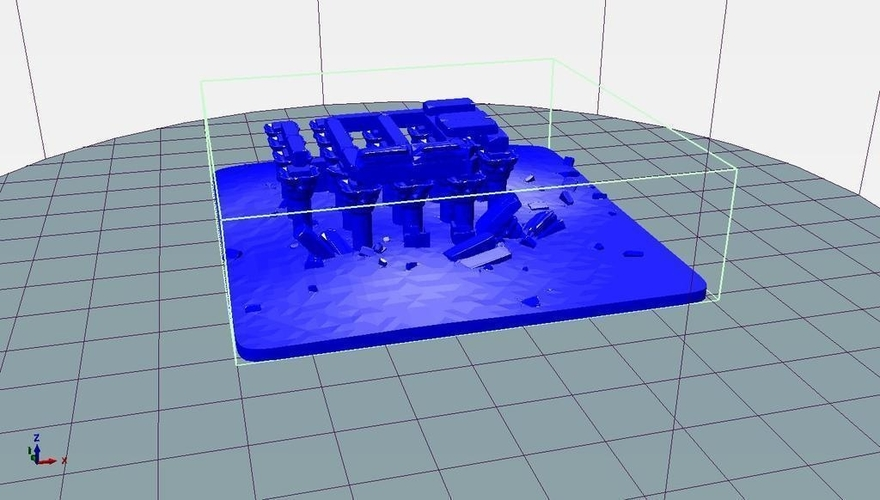 Egyptian Ruins Temple 3D Print 158907