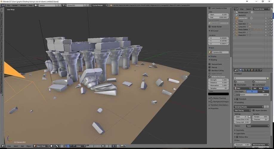 Egyptian Ruins Temple 3D Print 158908