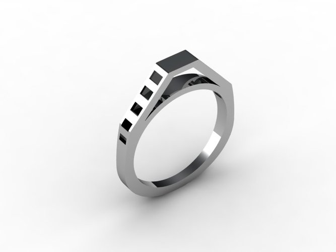 Ladder Ring 3D Print 15900