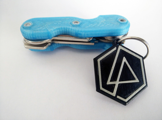 Linkin Park Keychain (dual color compatible) 3D Print 159243