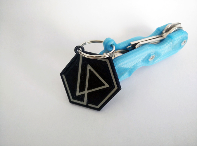 Linkin Park Keychain (dual color compatible) 3D Print 159244