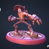 Small Steam Cowboy 3D Printing 159271