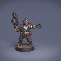 Small Malius Praetor Mercenary Captain 3D Printing 159333