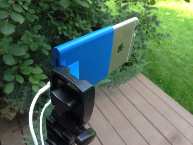iPhone 6 6s / iPhone 7 Camera Tripod Mount 3D Print 159403