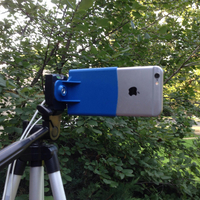 Small iPhone 6 6s / iPhone 7 Camera Tripod Mount 3D Printing 159405
