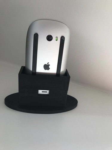 Apple Mouse charge station 3D Print 159454