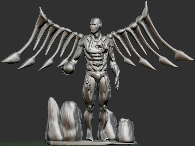 Cyborg Angel Damaged  3D Print 159471
