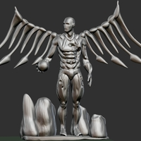 Small Cyborg Angel Damaged  3D Printing 159471