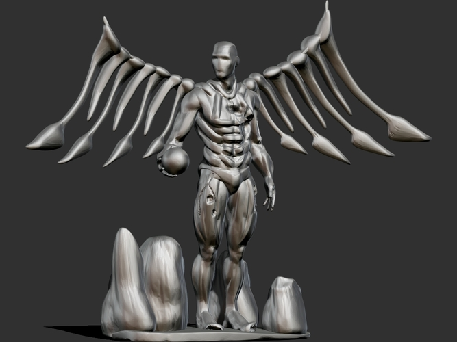 Cyborg Angel Damaged  3D Print 159472