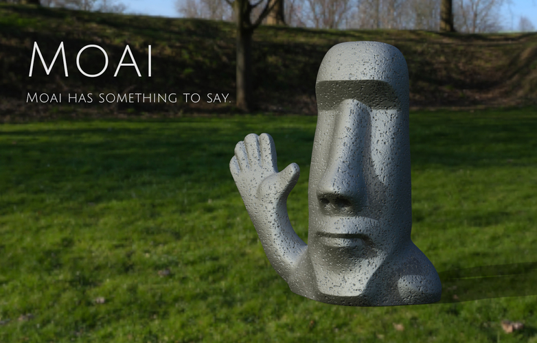 Moai has something to say. 3D Print 159476