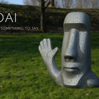 Small Moai has something to say. 3D Printing 159476