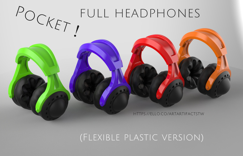 Pocket full headphones 3D Print 159477