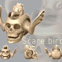 Small Scare birds 3D Printing 159496