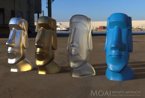 Medium Moai-Standard version (smooth)  3D Printing 159617