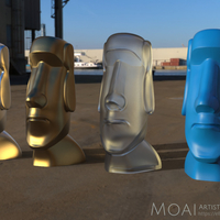 Small Moai-Standard version (smooth)  3D Printing 159617