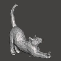 Small Cat low poly  3D Printing 159859