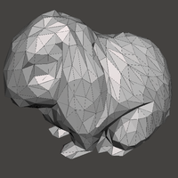 Small Low Poly Bunny Rabbit 3D Printing 159865