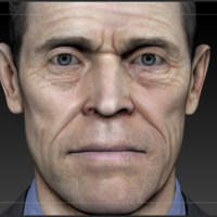 Small Willem Dafoe Bust 3D Printing 160616