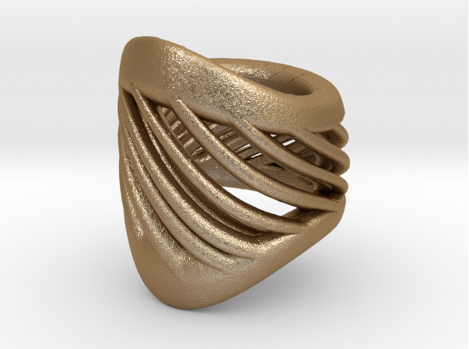 Twisted Gold Bracelet 3D Print 16067