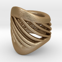 Small Twisted Gold Bracelet 3D Printing 16067
