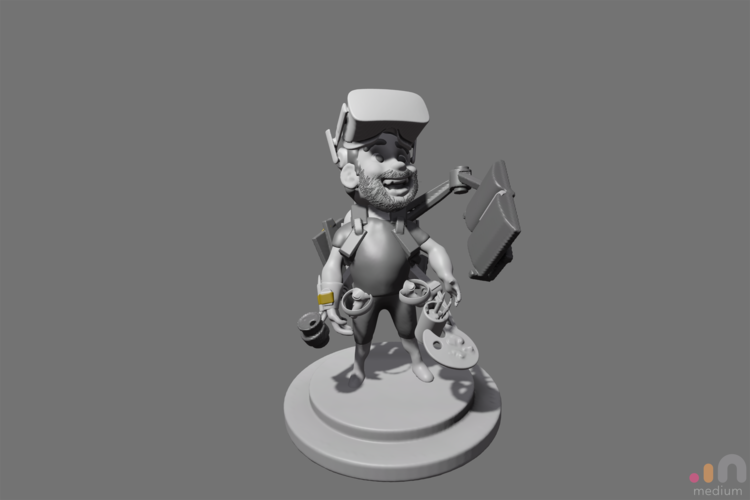 VR sculpted Avatar selfportrait 3D Print 160713