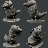 Small Croc Warrior 3D Printing 160954