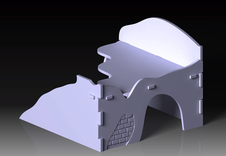 Destroyed building warhammer scenography 3D Print 160964